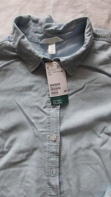 Koszula jeansowa H&M 42 XL nowa bawełna