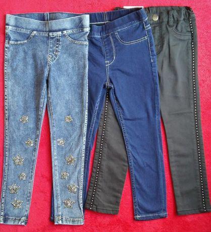 Jeansowe dżinsowe legginsy jeansy dżinsy 104 paka przedszkolaka