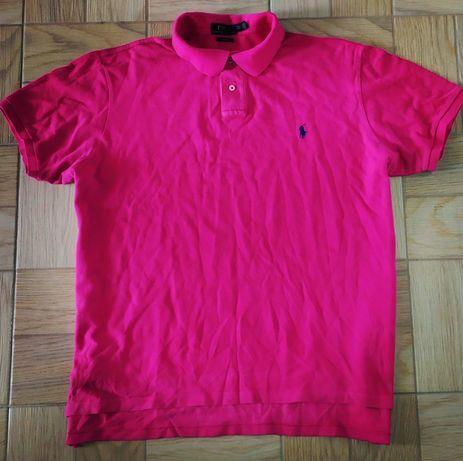Polo RALPH LAUREN XXL koszulka neon neonowka polowka różowa