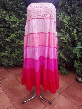 AMISU super sukienka - spódnica na lato boho hippie L/XL