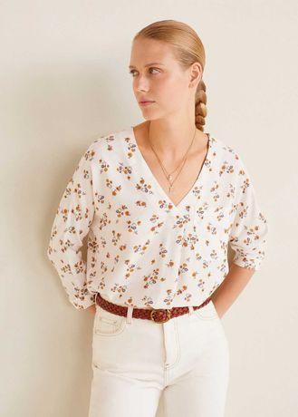 """Блуза с цветочным принтом """"Mango """" , размер L"""