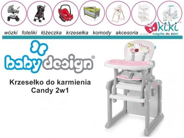 Krzesełko i stolik do karmienia 2w1 Baby design Candy
