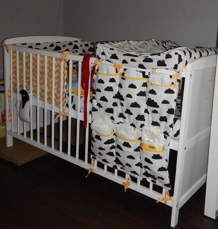Organizer ochraniacz chmurki na łóżeczko na 140*70