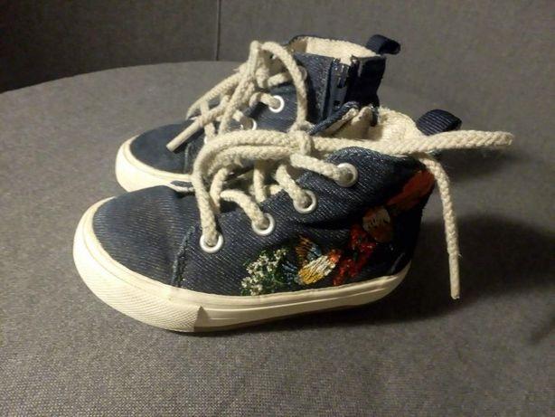 Buty dziecięce, wysokie trampki