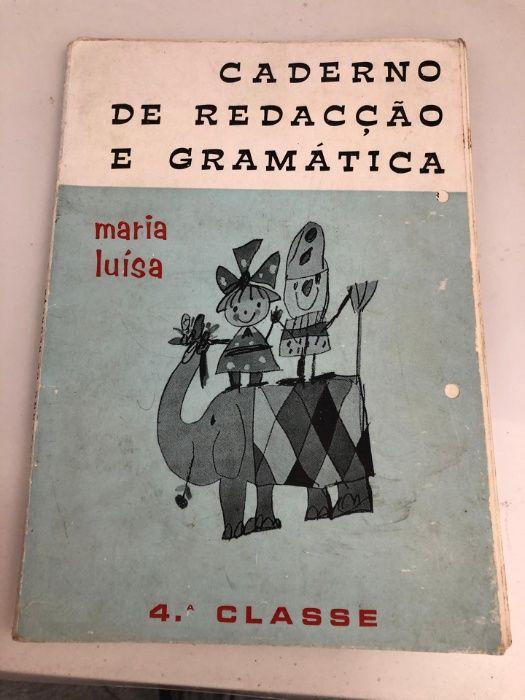 Caderno de Redacção e Gramática de Maria Luísa Moita - imagem 1