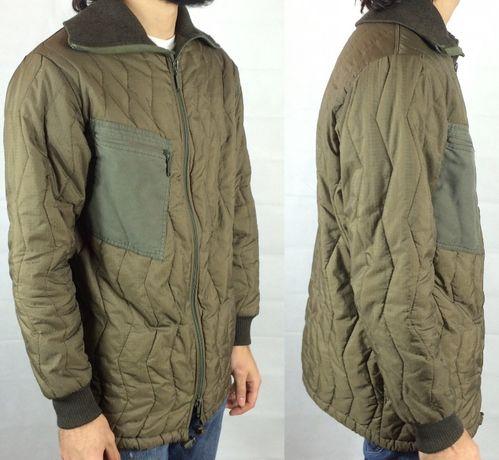 Men's Khaki Green Army Jacket kurtka wojskowa L Bomber Thermal Coat
