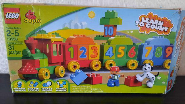 Потяг з цифрами lego duplo і додаткова платформа