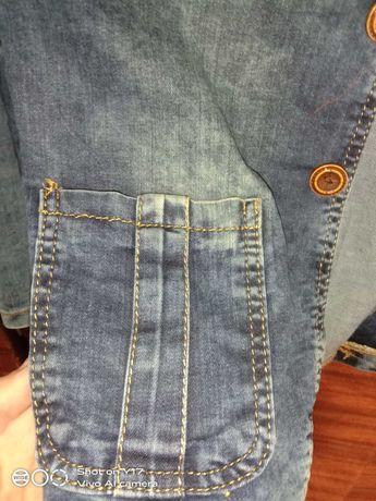 Пиджак джинсовый на мальчика