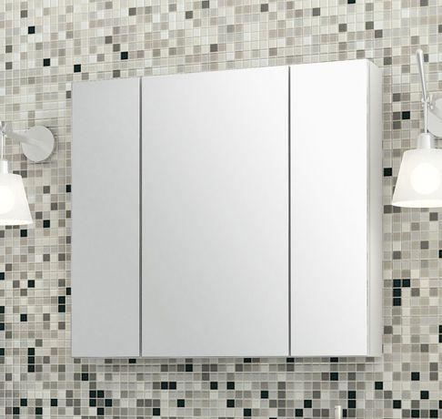 Szafka łazienkowa z lustrem - 80 cm szeroka - Dostawa za darmo
