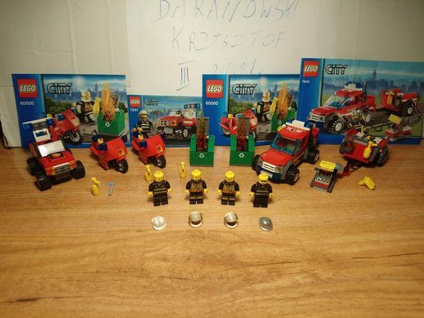Lego City Straż Pożarna 4 zestawy - 6000 + 7942 + 7241