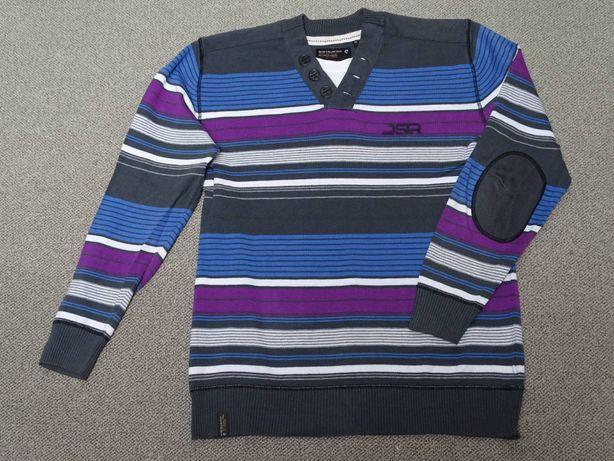 Sweter dzianinowy r.L /XL paski zadbany
