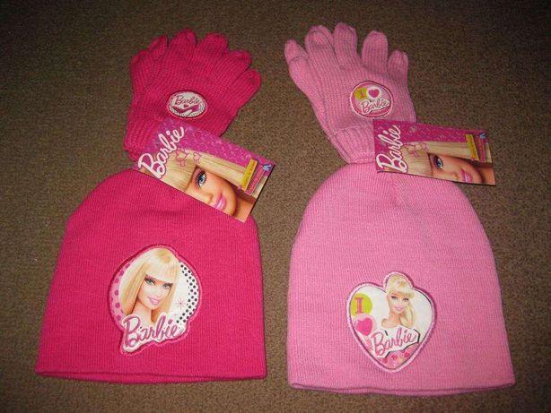 Conjunto de Gorro + Luvas da Barbie/Novo e com Etiqueta!