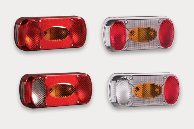 Lampa zespolona tylna do przyczep i samochodów dostawczych ze światłem