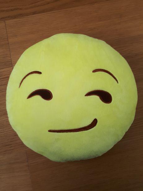 Nowa poduszka emoji emotka okrągła żółta