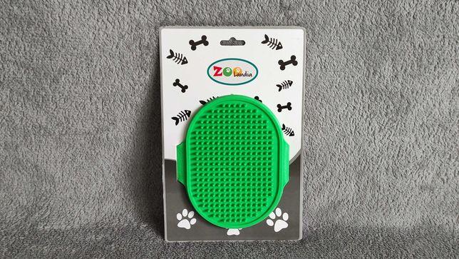 Nowa gumowa szczotka do czesania zwierząt