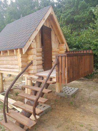 Domek drewniany sosnowy solidny!!