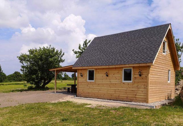 Domek drewniany całoroczny , sezonowy