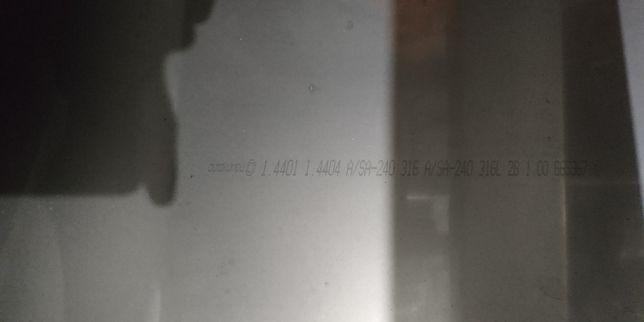 Blacha kwasoodporna  1.4404 arkusz 2000 x 1000 x 1