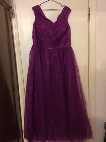 Платье в пол большой размер