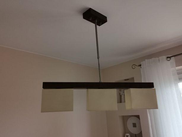Lampa sufitowa - drewno