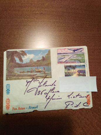 Koperty i karta pocztowa