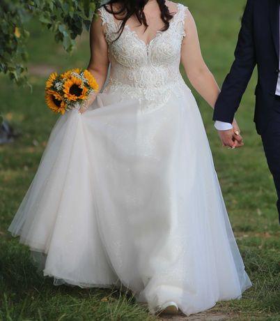 Suknia ślubna r. 48