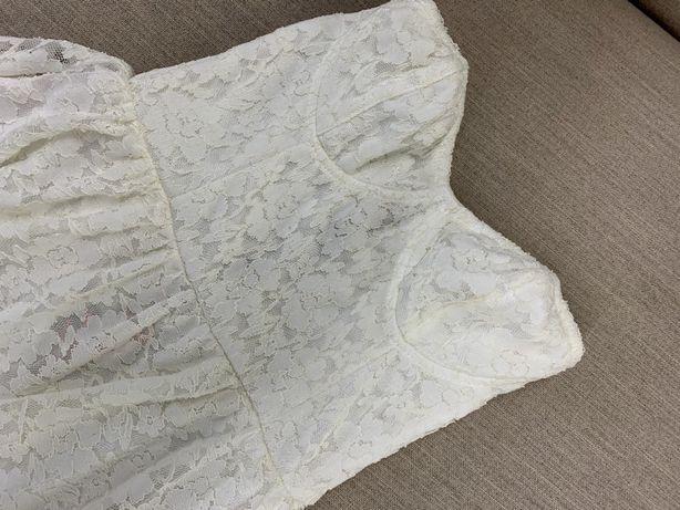 Платье белое бралет кружево