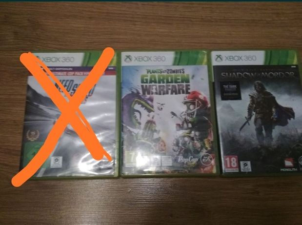 Gry xbox 360 need for speed rivals,plants vs zombie i shadow of mordor