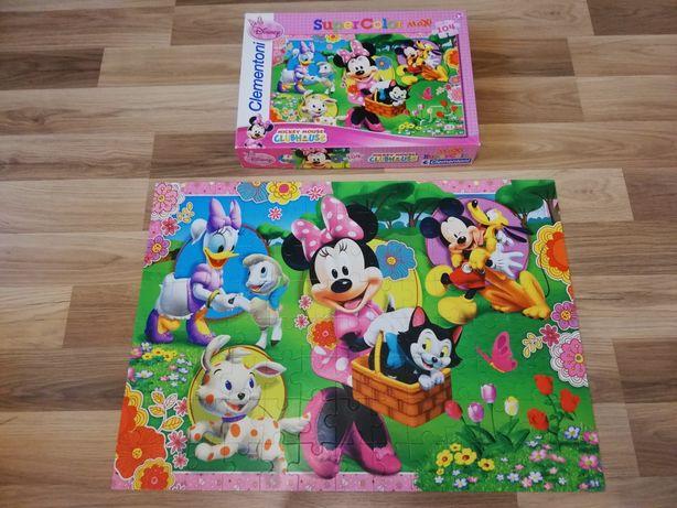 Puzzle Mickey Mouse, clementoni, 104 elementy