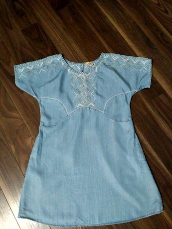 Tunika / krótka sukienka ciążowa S 36 z lyocellu ( a'la jeans)