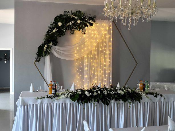 Ścianka weselna, tło za Młodą Parą, heksagon - wynajmę
