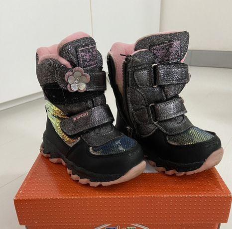 Сапоги сапожки ботинки зимние для девочки, 25 р-р