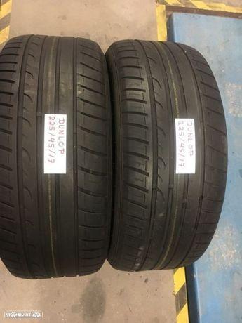 2 pneus semi novos Dunlop 225/45/17 - Entrega grátis