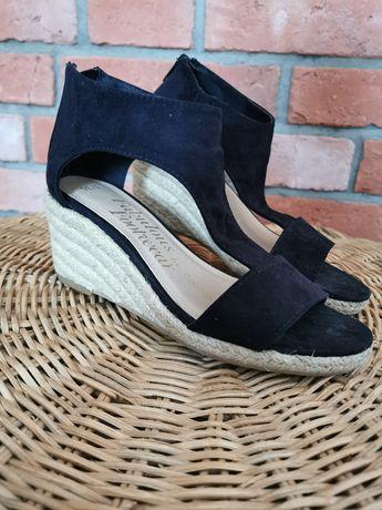Sandały 36 espadryle czarne
