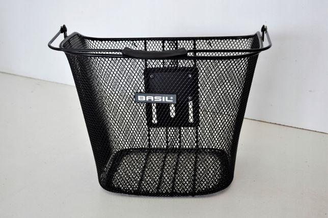 Koszyk rowerowy Basil EC czarny - z uchwytem