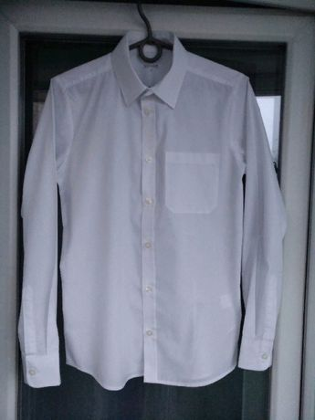 Рубашка школьная зауженная Debenhams р.158 мальчику 13л, белая