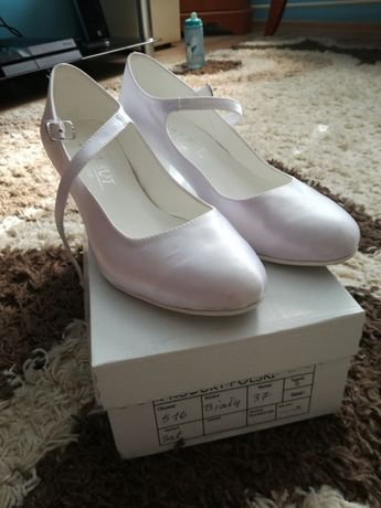 Buty ślubne czysta biel 37