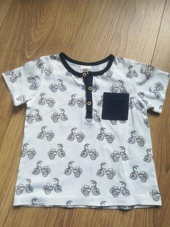 Koszulka niemowlęca z krótkim rękawem H&M rozmiar 74