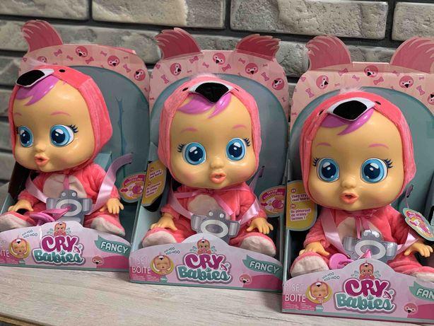 Интерактивная Кукла IMC Cry Babies Плакса Фенси в костюме фламинго
