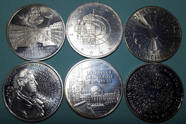 Srebrny zestaw monet 2 Możliwy też zakup pojedyńczych sztuk.