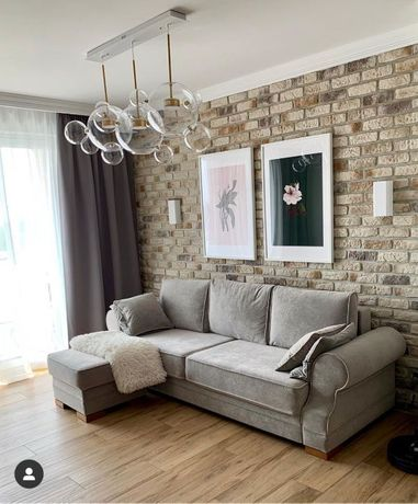 Kanapa sofa angielska Orlando prowansalski styl funkcja spania