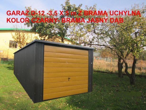 Garaż 3,5 x 5 m z bramą uchylną od reki