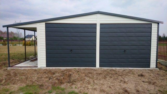 Garaż blaszak 7.50x6 panel pozomo