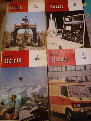 Młody technik 4 szt. 1983r. 1984r.