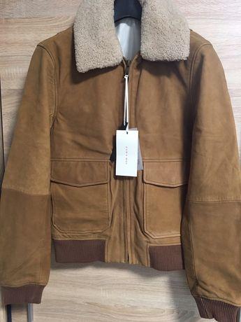 Куртка Zara,USA,натуральная кожа набук,размер S,2700грн