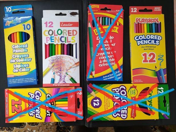 Олівці кольорові (цветные карандаши)