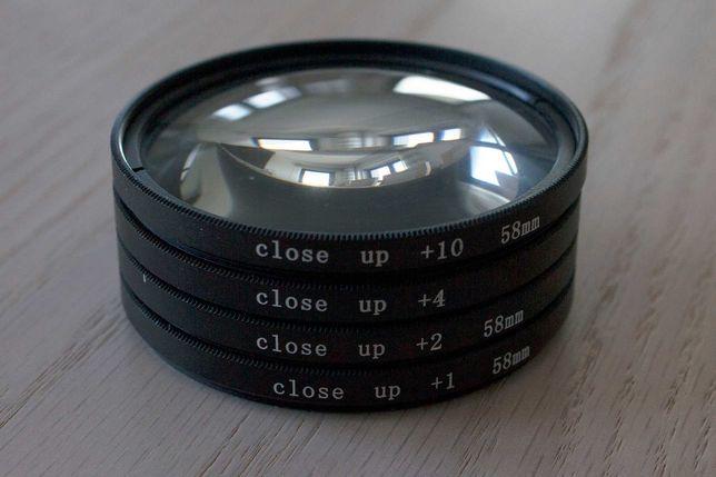 Filtros de Close-up para objetivas 58mm