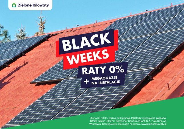Black Weeks - Instalacje fotowoltaiczne z Ratami 0% i megaokazjami