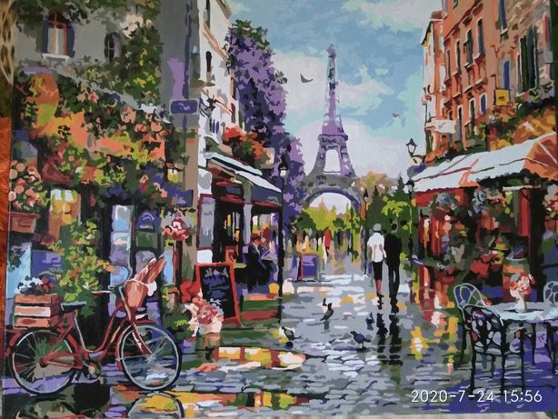 Продам картину Утро в Париже
