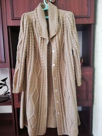 Кардиган вязаный длинный женский кофта вязаная женская р. 54 56 58